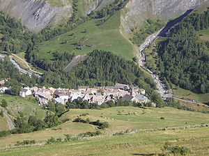 La Grave - A view from the nearby hillside