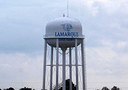 The La Marque water tower