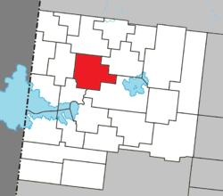 Location within Abitibi-Ouest RCM.