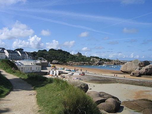 La côte de granit rose à Trégastel - 001