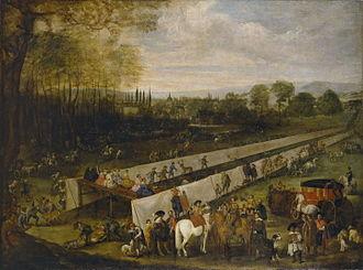 La Fábula de Polifemo y Galatea - The Stag hunt at Aranjuez by Juan Bautista Martínez del Mazo (1665)