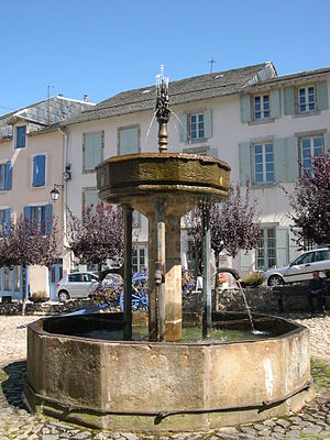 Lacaune - The fountain in Lacaune