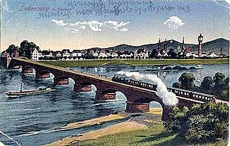 Main-Neckar Railway - Neckar Bridge at Ladenburg 1900