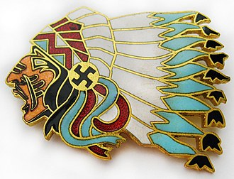Lafayette Escadrille - Lafayette Escadrille Pin (Escadrille N 124) with bust of Chief Sitting Bull. Chief Sitting Bull N124 was conserved by EC 2/4 La Fayette of the French Air Force.