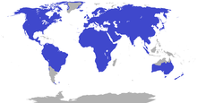 Range of Lagomorpha