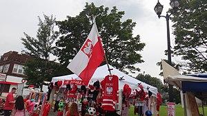 Lagrange street Polish Festival items booth