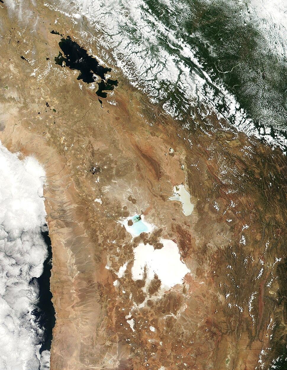 Lake Titicaca Modis Sensor Nov 4 2001