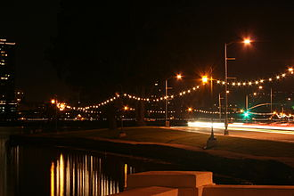 "Lake Merritt - The ""necklace of lights"" surrounding Lake Merritt."