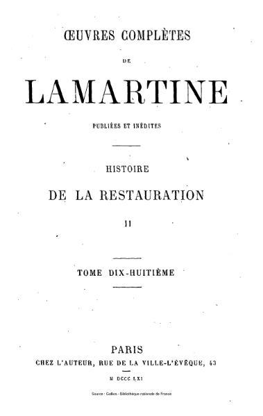 File:Lamartine - Œuvres complètes de Lamartine, tome 18.djvu