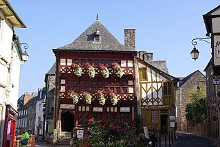 Part of Lamballe-Armor in Brittany, France