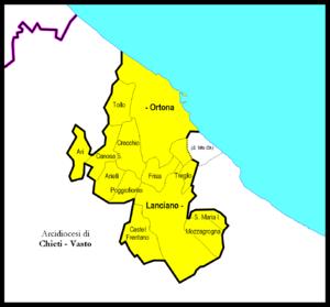 Roman Catholic Archdiocese of Lanciano-Ortona - Image: Lanciano Ortona diocesi