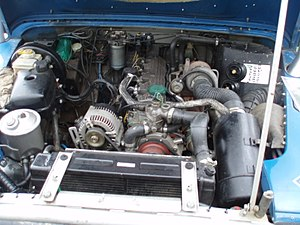 Land Rover engines - This Defender-spec 200Tdi has been retro-fitted into an earlier vehicle. It lacks the intercooler fitted to the standard engine and has the alternator mounted in a different location.