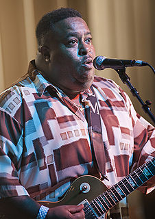 Larry McCray American blues guitarist and singer