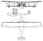 Latham HB.5 3-view Les Ailes July 28, 1921.png