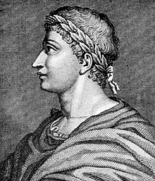 The Roman poet Ovid from an engraving.