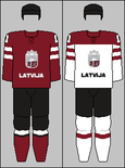 Latvia national hockey team jerseys - 2014 Winter Olympics.png