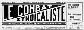 Image illustrative de l'article Le Combat syndicaliste