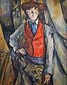 Le Garçon au gilet rouge de Paul Cézanne (musée d'Orsay, Paris) (35709190533).jpg