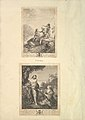 Leaf from Aedes Walpolianae mounted with two prints- (a)- Three Soldiers; (b)- Christ Appearing to Mary in the Garden MET DP829087.jpg