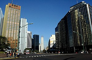 Buenos Aires Central Business District - Leandro Alem Avenue