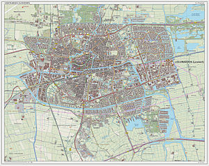 Leeuwarden - 2014 map of the city of Leeuwarden