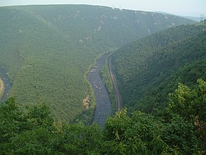 Lehigh River - Lehigh River near Jim Thorpe, Pennsylvania