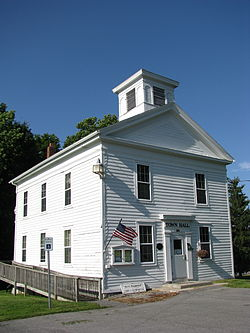 Lenox District No. 4 Schoolhouse, now the Clockville Town Hall.JPG