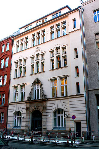 Hochschule für die Wissenschaft des Judentums - The quondam building of the Hochschule für die Wissenschaft des Judentums at Tucholskystraße 9 in Berlin (since 1999 named Leo-Baeck-Haus and seat of the Central Council of Jews in Germany)