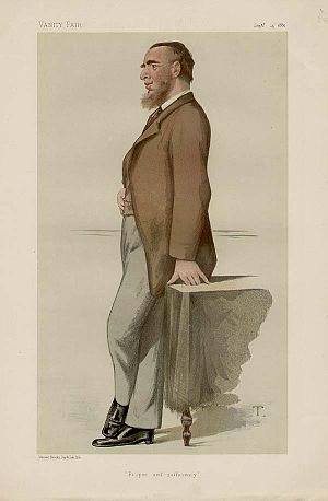 "Leonard Courtney, 1st Baron Courtney of Penwith - ""Proper self-sufficiency"" Caricature of Courtney by ""T"" (Théobald Chartran) in Vanity Fair, 25 September 1880"