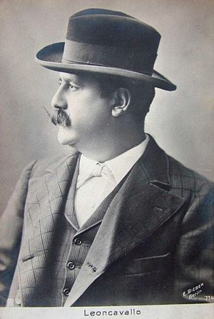 Ruggero Leoncavallo - Leoncavallo on a 1910 postcard