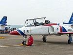 Li Jun-Ting, ROCAF Major, Pilot of Thundertigers AT-3 0842 Leaving Aircraft 20161126a.jpg