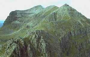 Liathach - Looking west along Liathach