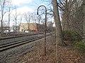 Light pole from former Wellesley station, April 2016.JPG