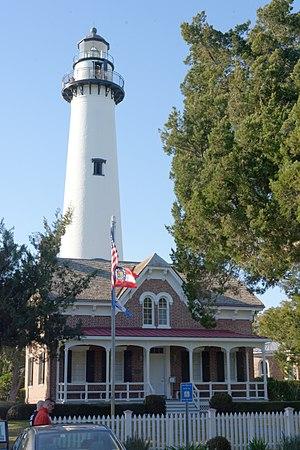 St. Simons Island Light - Lighthouse and keeper's house