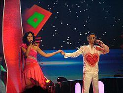 Linas and Simona performing at ESC 2004 .