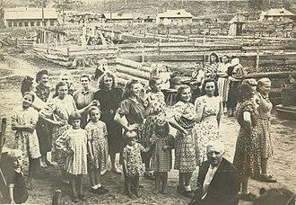 Soviet deportations from Lithuania - A group of Lithuanian deportees in Ziminsky District, Irkutsk Oblast