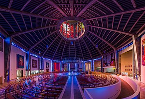 Liverpool Metropolitan Cathedral - The nave and sanctuary of the Cathedral