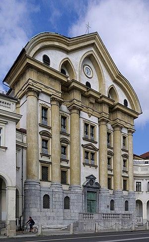 Ursuline Church of the Holy Trinity - Ursuline Church along Slovene Street