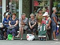 Locals at Bus Stop - Podil District - Poltava - Ukraine (28887489257).jpg