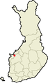 Location of Vörå in Finland.png