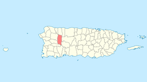 Location of Lares in Puerto Rico
