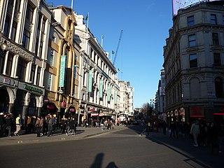 Coventry Street London street, within the City of Westminster