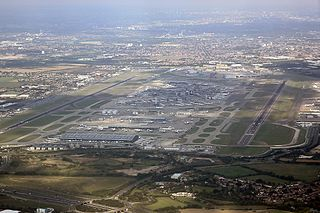 major international airport serving London, England, United Kingdom