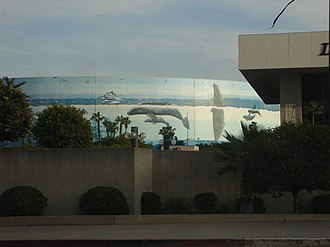 Long Beach Convention and Entertainment Center - Exterior of venue showcasing the Wyland Whaling Wall