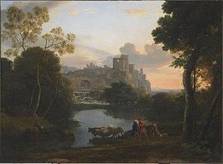 View of Tivoli at Sunset
