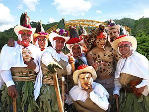 Carnival in Mexico - Los Pochos dancers from Carnival in Tenosique, Tabasco