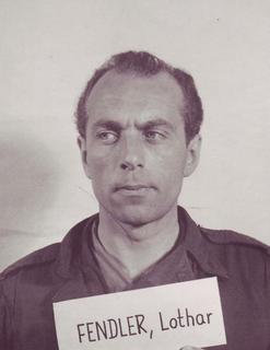 Lothar Fendler German Nazi SS officer and Holocaust perpetrator