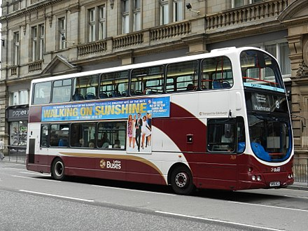 A Lothian Bus on North Bridge Lothian Buses bus 769 (SN56 ACJ), 24 June 2014.jpg