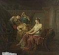Louis Moritz - De dodelijk gewonde Marcus Antonius bij Cleopatra - SK-A-1084 - Rijksmuseum.jpg