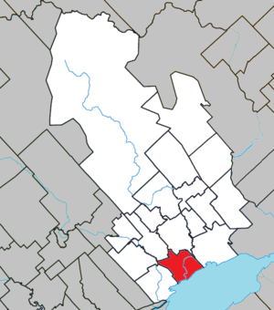 Louiseville - Image: Louiseville Quebec location diagram